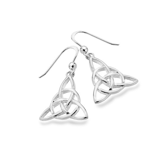 Celtic Trinity Triangle Earrings