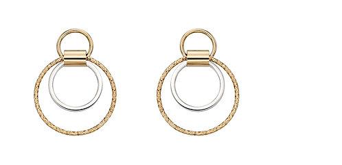 Diamond Cut Multi Circle Earrings