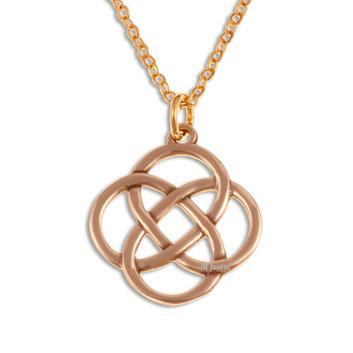 Four Loop Knot Drop Pendant