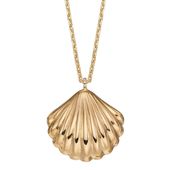 Shell Pendant, 9ct Gold