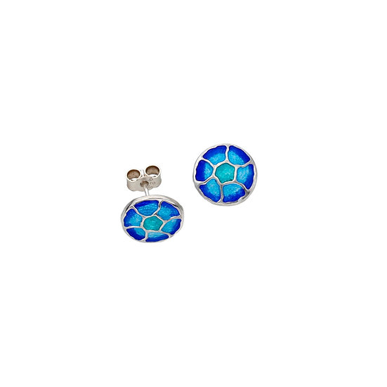 St Justin Glas Mor Morgowles Jellyfish enamelled stud earrings