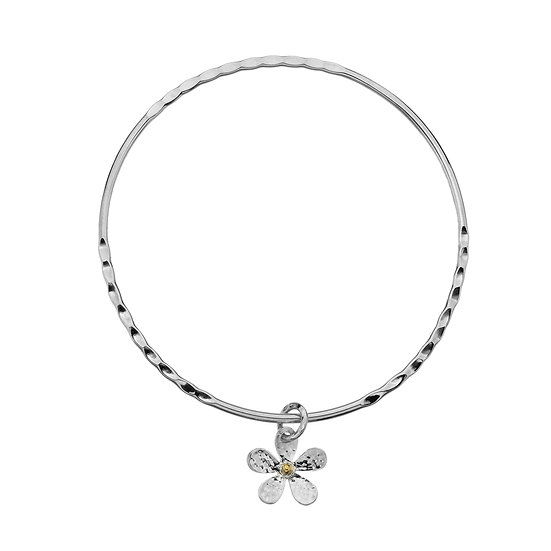 Silver Daisy Bangle