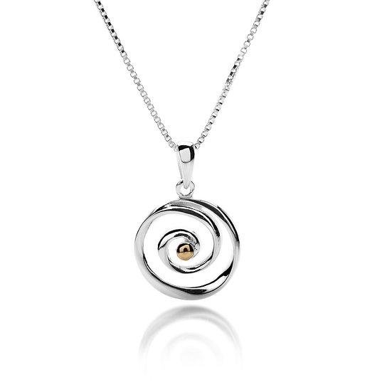 Spiral Pendant, Silver