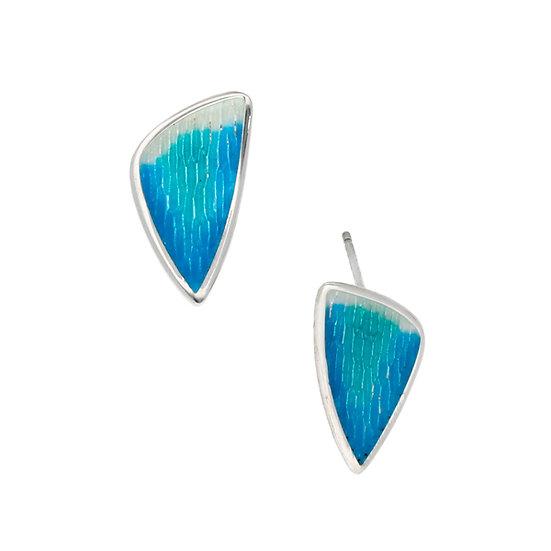 Silver Glas Mor Sloop enamelled earrings