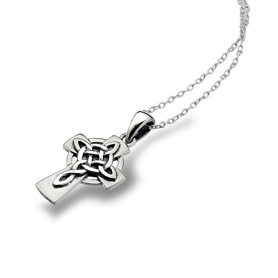 Small Celtic Cross with solid knotwork