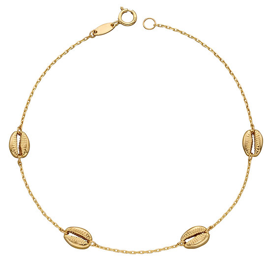 Cowrie Shell Bracelet, 9ct Gold
