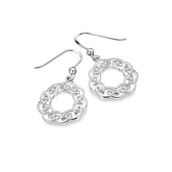 Celtic Knotwork Circle Earrings