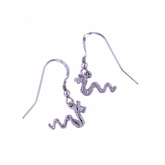 Sea serpent drop earrings
