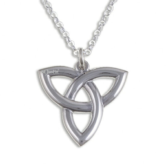 Three Loop Love Knot pendant - silver