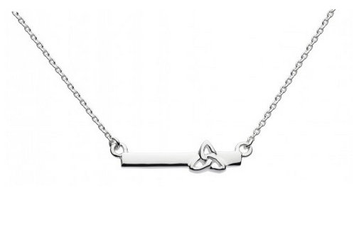 Celtic Silver Islay Trinity Knot with Bar Necklace