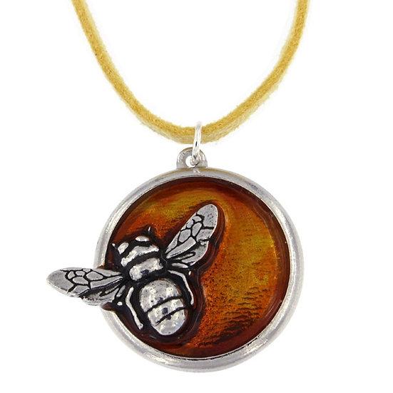 Honey Bee enamel pendant