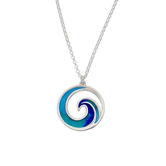 St Justin Glas Mor Mordardha Surf enamelled pendant