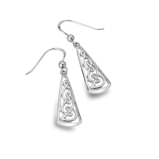 Celtic Knotwork Triangle Earrings
