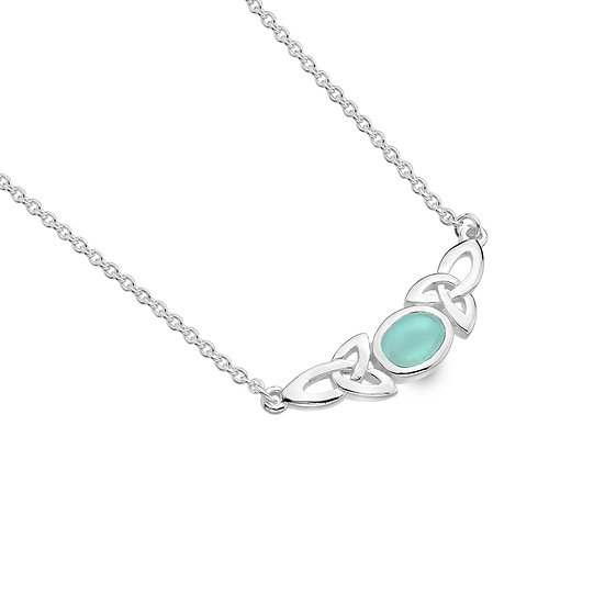 Celtic trinity Knot Necklace with Gemstone