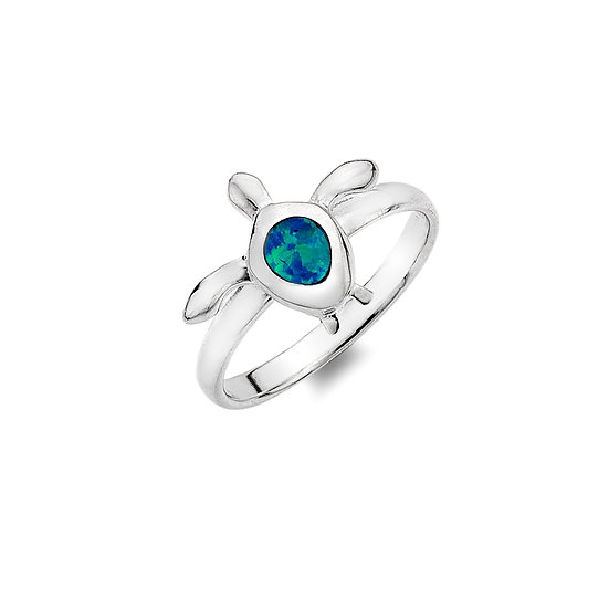 Ocean Blue Turtle Ring