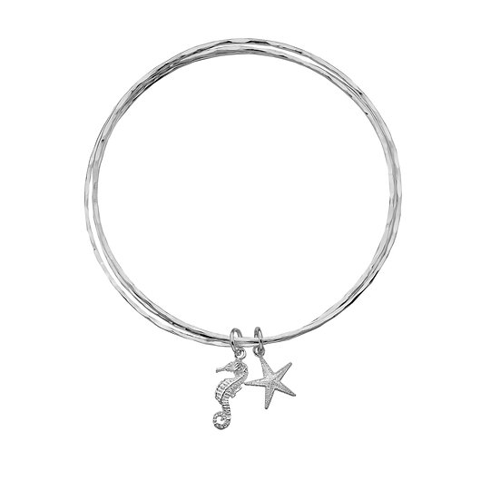 Starfish and Seahorse Bangle