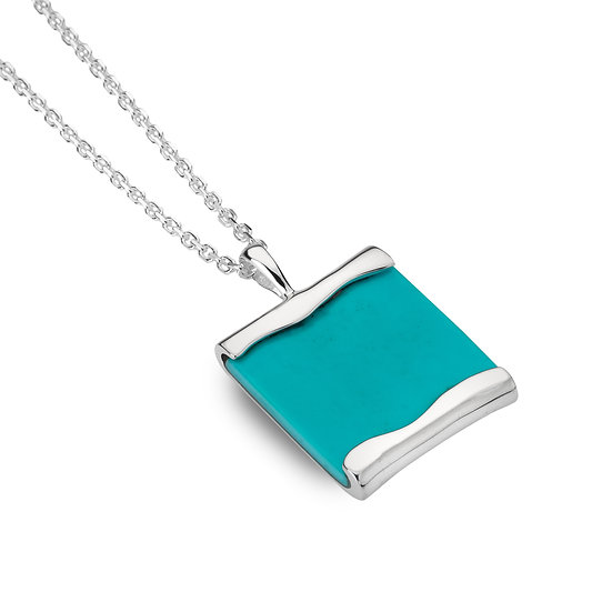 Open Ocean Pendant with Turquoise
