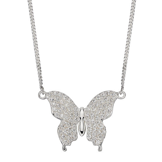 Butterfly Necklace with Zirconia
