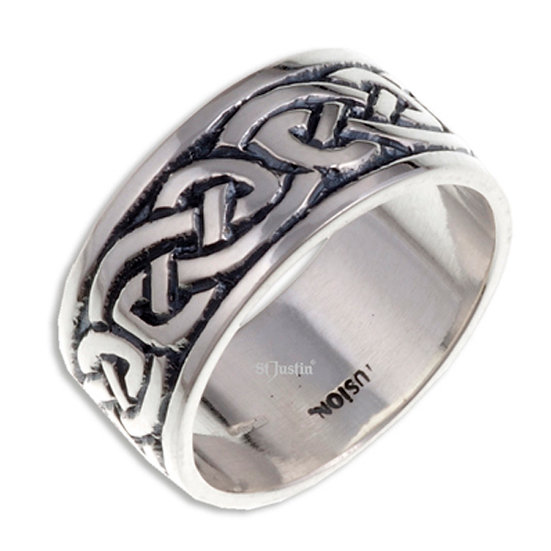 Endless Knot Ring, broad, silver