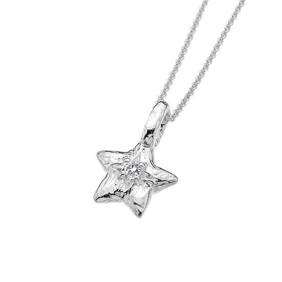 Star Pendant with White Topaz