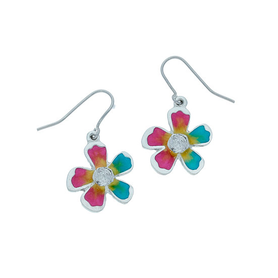 Exotic flower earrings, choice of colours