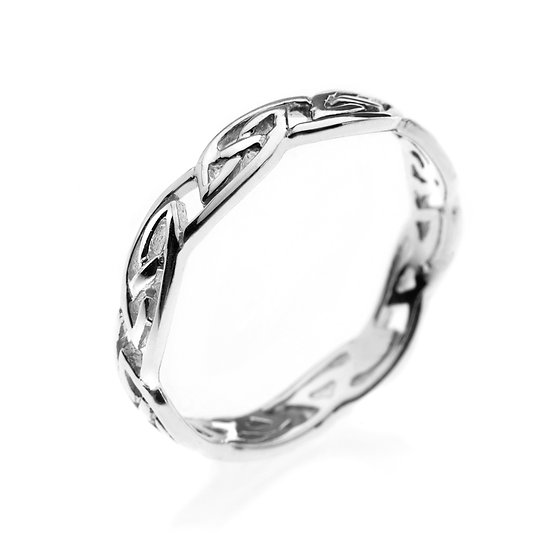 Celtic Knotwork Ring, Narrow or Medium