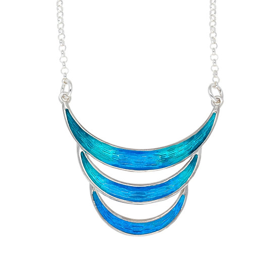 Silver Glas Mor Mortidys enamelled necklace