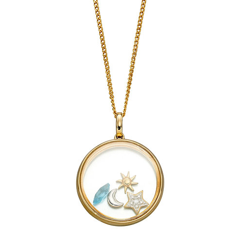 Floating Pendant with 4 Astrological Charms