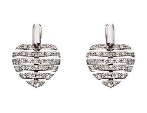 Split Diamond Heart Earrings