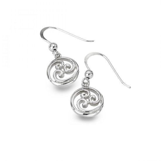 Celtic Scroll Earrings, drops or studs