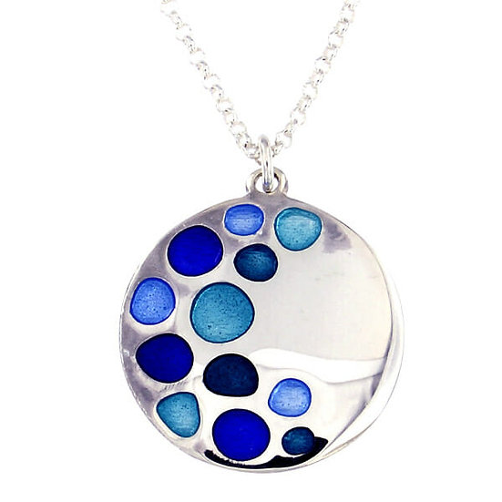 St Justin Glas Mor Bay enamelled pendant
