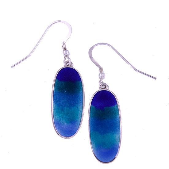 Ocean Enamelled Drop earrings