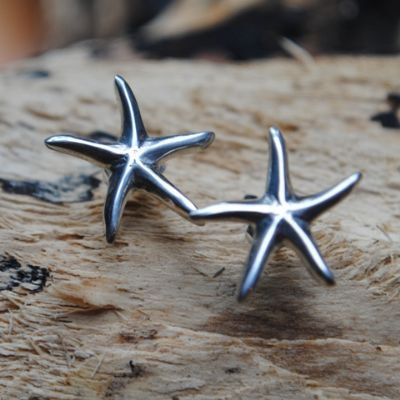 Starfish Earrings, pewter, studs or drops