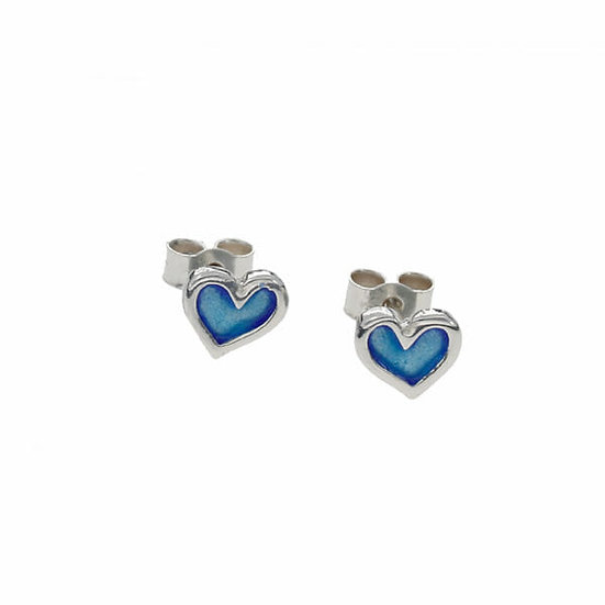 Kara enamelled heart earrings, studs or drops