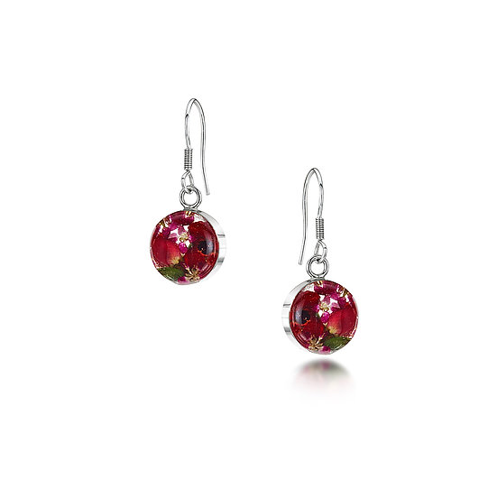 Bohemia Poppy & Rose Flower Earrings