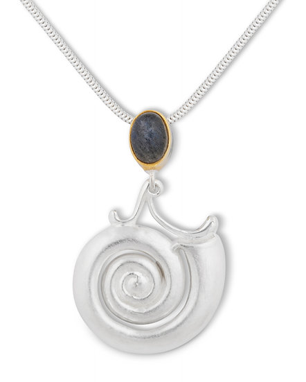 Moonshell Pendant with Iolite