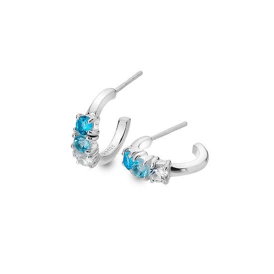 Multi Topaz Hoop earrings