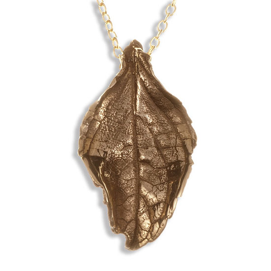 Leaf Pendant, Bronze