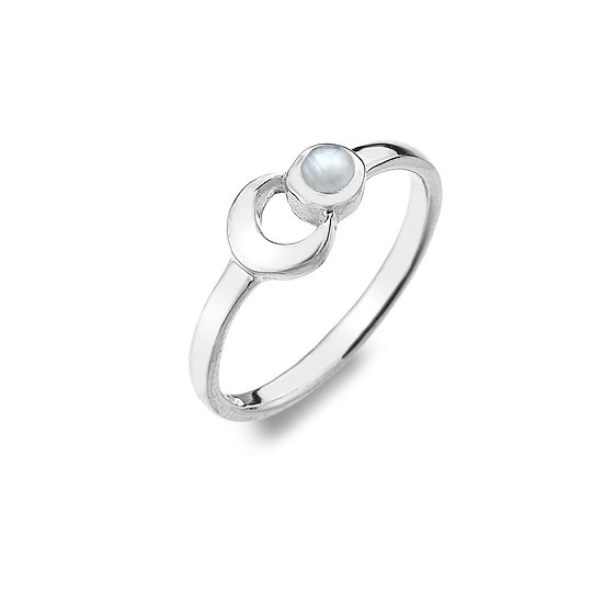 Moon Ring with Moonstone