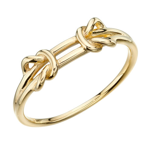 Double Parallel Knots Ring