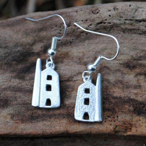 Tin Mine Earrings, pewter