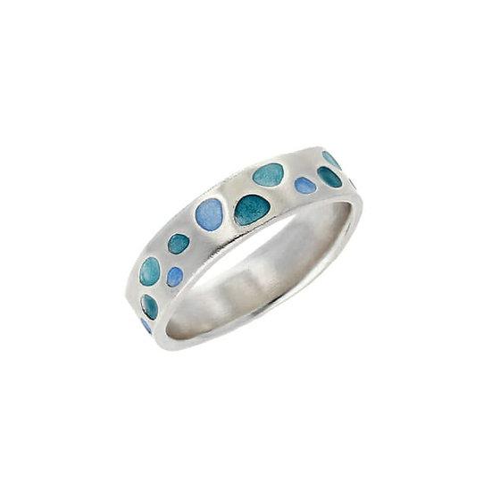 St Justin Glas Mor Cribbar Enamelled Ring