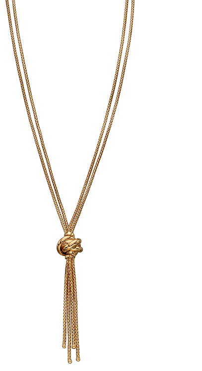 Yellow Gold knot Necklace