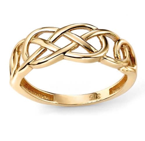 Celtic Ring in Yellow Gold