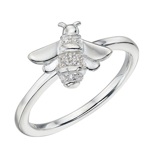 Bee Ring with Zirconia