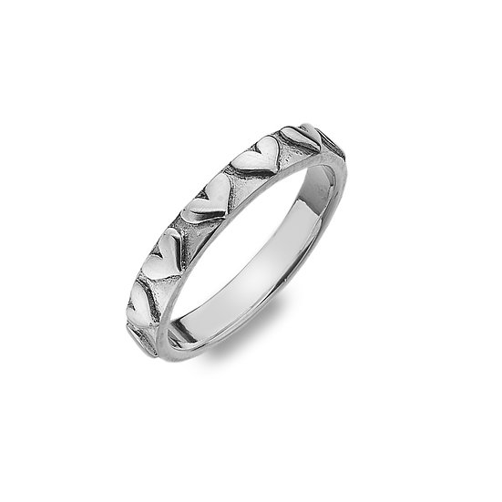 Hearts Silver Ring