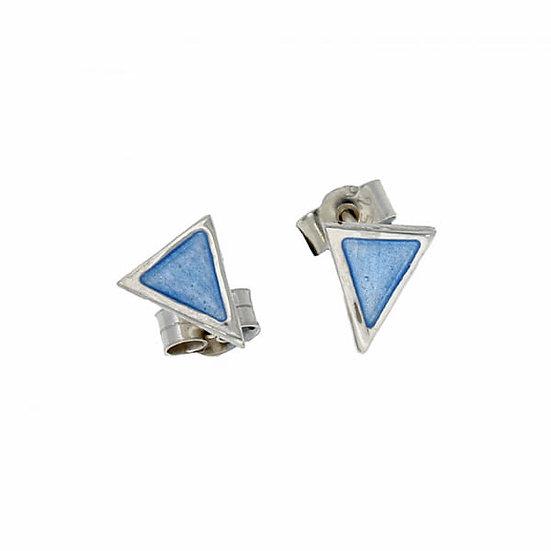St Justin Glas Mor Flotilla enamelled stud earrings