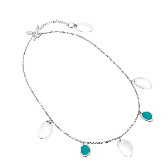 Pebbles Necklace with Turquoise or Paua