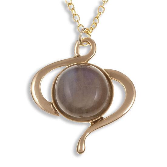 Moonstone Swirl pendant - Bronze