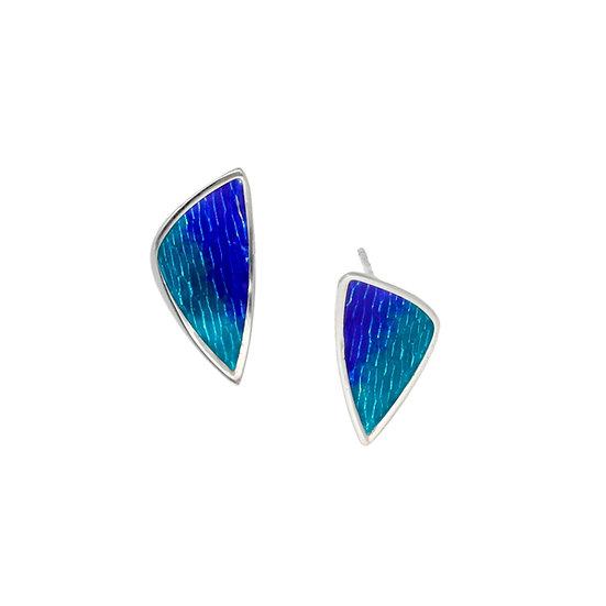 Silver Glas Mor Carrick enamelled earrings